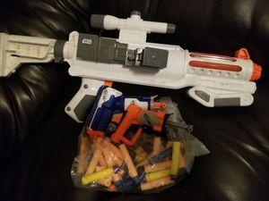 BEST OFFER! Star Wars Nerf Captain Phasma Blaster & 2 Mini Nurf Guns. Porch pick up Available for Sale in Glendale, AZ