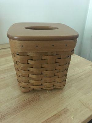 Longaberger Basket (tissue box holder) for Sale in Glendora, CA
