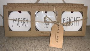 Rae Dunn, Christmas Ornaments - NEW! for Sale in Rancho Cucamonga, CA