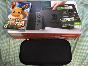 Nintendo switch with game, 128gb card and carrying case!!! for Sale in Bellevue, WA