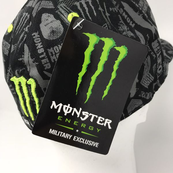 "Rare Monster Energy Drink Hat- ""We Got Your Back"" Military"