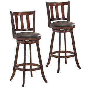 """Pick up only Swivel Bar Stools Leather Padded Dinning Kitchen Pub Bistro Chairs set of 2 29.5"""" for Sale in Parlier, CA"""