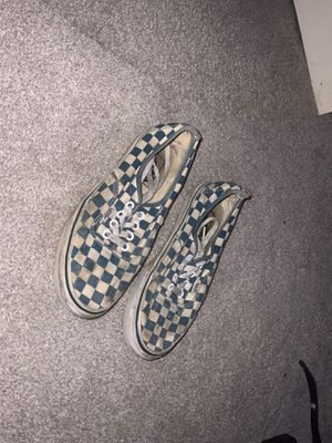 Blue checkered Vans Size 6.5 Girls Shoes for Sale in San Diego, CA
