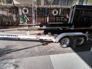 20-25 Continental aluminum boat trailer dual axle for Sale in Kenneth City, FL