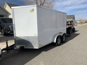 2019 covered wagon 7x14 enclosed trailer for Sale in Montrose, CO
