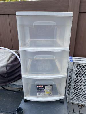 3 Drawer Plastic Storage Cart/w Wheels for Sale in Canton, MI