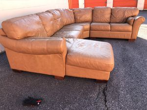 Top Grain Leather sectional for Sale in Doraville, GA