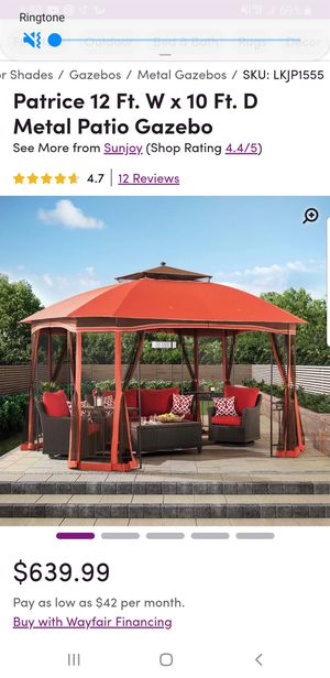 Metal patio gazebo for Sale in Columbus, OH