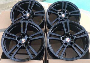 "20"" Panamera Porsche Original factory OEM Rims wheels black for Sale in Huntington Beach, CA"