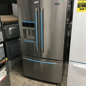 ; MAYTAG SMUDGE PROOF STAINLESS STEEL ENERGY EFFICIENT FLOOR MODEL FRENCH DOOR REFRIGERATOR ; for Sale in Chula Vista, CA