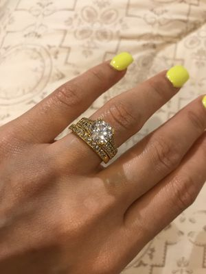 18K Gold plated Ring Set- GRD Diamond 💍 for Sale in Dallas, TX