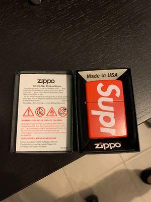Red Supreme Zippo Lighter for Sale in Malden, MA