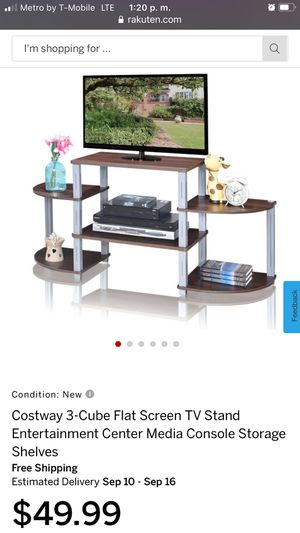 Costway 3-Cube Flat Screen TV Stand Entertainment Center Media Console Storage Shelves for Sale in Bakersfield, CA