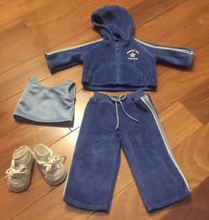 American Girl Doll Velour Sweat Suit & Sneakers for Sale in Chicago, IL