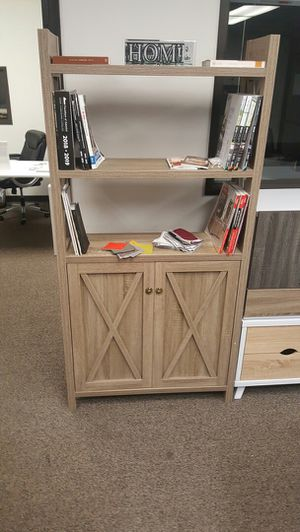 Michelle 2 Door Bookcase, Dark Taupe Color for Sale in Fountain Valley, CA