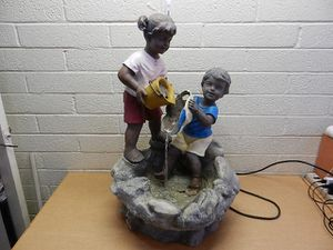 Large Garden Fountain with Boy and Girl for Sale in Phoenix, AZ