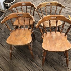 4 Solid Wood Vintage Chairs for Sale in Highland, MD