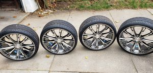 "Ace Alloy - Aspire Black Chrome 20"" × 8.5"" Rims for Sale in Freeport, NY"