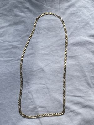 14k solid gold Figaro chain for Sale in Monrovia, IN