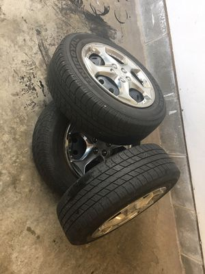 Tires with rims and tire cups. 185/65/15 for Sale in Virginia Beach, VA