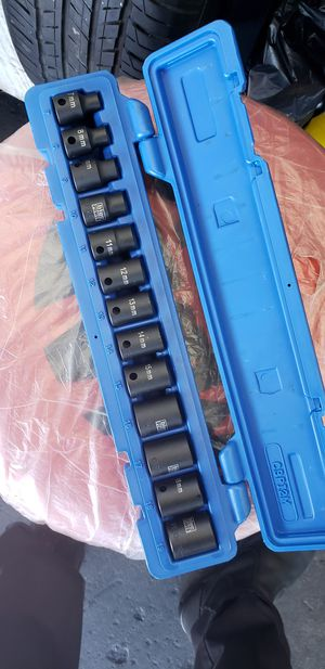 3/8 impact Cornwell sockets short for Sale in Moreno Valley, CA