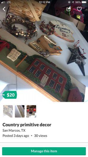 Primitive decor for Sale in San Marcos, TX