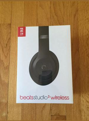 Beats Studio 3 wireless Headphones Matte Black . NEW& SEALED .(ORIGINAL& AUTHENTIC , Latest Model 2019 ). for Sale in Los Angeles, CA