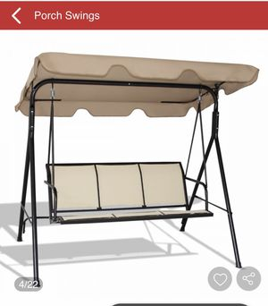 Outdoor Patio 3 Person Porch Swing Bench Chair with Canopy OPEN BOX for Sale in Montclair, CA