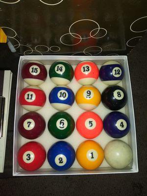 "Set of 16 Pool Balls 2.25"" Billiards for Sale in Pulaski, TN"