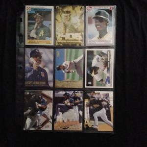 (9) Different RICKEY HENDERSON Baseball Card Lot San Diego Padres for Sale in Redmond, WA