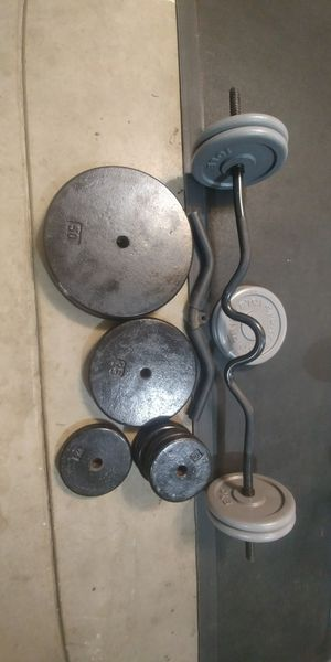 265 pounds iron weights for Sale in Fresno, CA