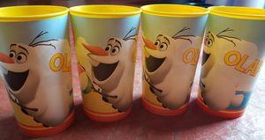 Olaf Plastic Cups for Kids (Set of 4) for Sale in Sicklerville, NJ