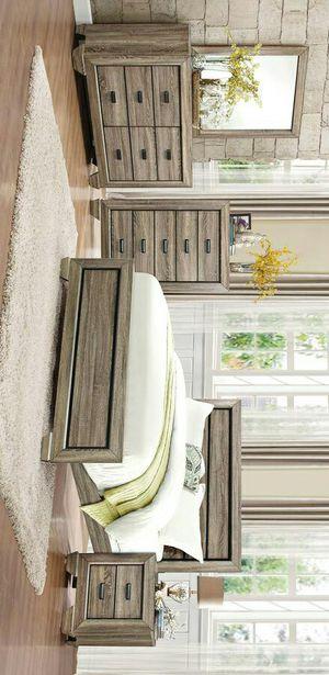 Beechnut Brown Queen Panel Bedroom Set |ask king size bedroom set for Sale in Killeen, TX