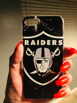 NEW IPHONE 7 OR IPHONE 8 CASE RUBBER hypebeast celebrity hip hop street rap hype popular trill RAIDERS for Sale in San Bernardino, CA
