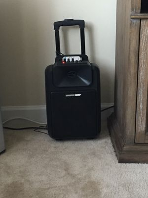 Sharper image suitcase speaker wireless for Sale in Alexandria, VA