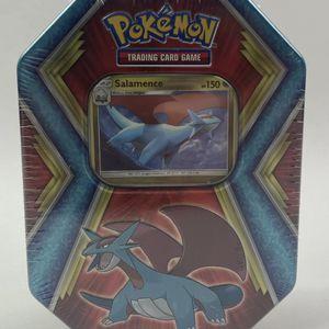 Brand New Factory Sealed Pokemon Salamence Tin Rare 3 Booster Packs Inside for Sale in Tucson, AZ
