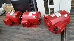 Three WEG 3phase 7.5hp electric motors for Sale in Vancouver, WA