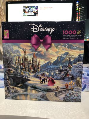 Thomas Kinkade Beauty & The Beast Disney Puzzle for Sale in Los Angeles, CA