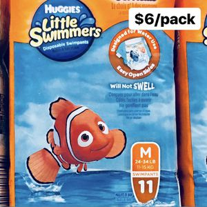 Huggies Little Swimmers Size Medium 24 - 34 lbs (11 Swimpants Total) - $6/pack for Sale in Anaheim, CA