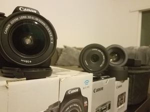 Canon t6 3 lenses + extras for Sale in Mountlake Terrace, WA