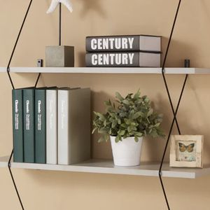 Grey Shelving System with Black Wire Brackets for Sale in Smyrna, GA