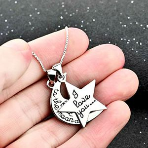 """18"""" 925 Sterling Silver Moon Star Pendant Necklace for Sale in Arlington, TX"""