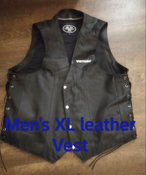 Pure victory gear leather vest for Sale in Dunkerton, IA