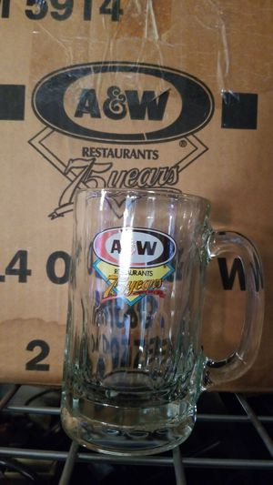 75th Anniversary A&W 14oz Glass Mugs Collectable for Sale in Fircrest, WA