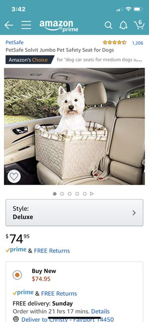 Petsafe car seat for Sale in Fairport, NY
