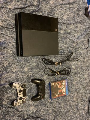 PS4 With two controls and bo3 for Sale in Cranston, RI