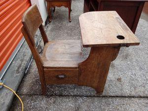 Antique solid oak school desk for Sale in Nashville, TN