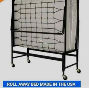 BRAND NEW ROLL AWAY BED FRAME AND MATTRESS FURNITURE CAMA NUEVA for Sale in Pomona, CA