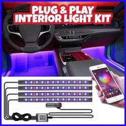 🚨🔥NEW EASY PLUG & PLAY CAR INTERIOR LED LIGHTING KIT W/PHONE APP CONTROL! RGB MULTIPLE COLORS OPTIONS!!🔥🚨 for Sale in Ontario,  CA
