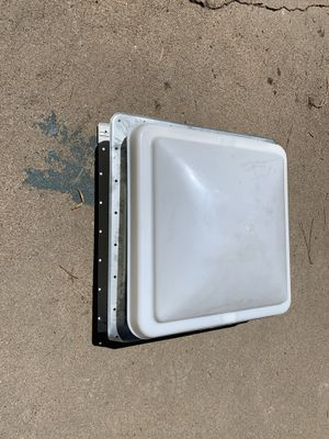 "New RV adjustable skylight/vent, 14""x14"" inside, white with screen for Sale in Aurora, CO"